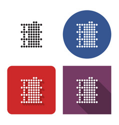 dotted icon oil barrel in four variants vector image