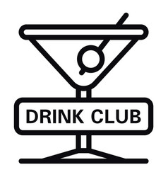 Drink club icon outline style vector