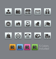 e-shop icons - satinbox series vector image