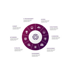 Efficiency infographic 10 steps circle design vector