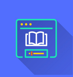Elearning education - icon for graphic and vector