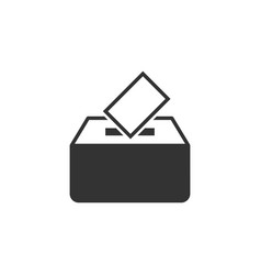 Election voter box icon in flat style ballot vector