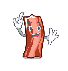 Finger ribs mascot cartoon style vector