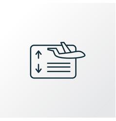 flight board icon line symbol premium quality vector image