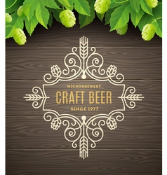 Flourishes beer emblem vector