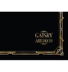 gatsby art deco vector image