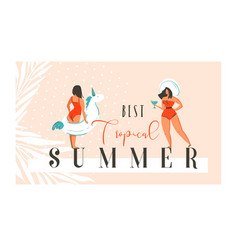 Hand drawn abstract exotic summer time vector