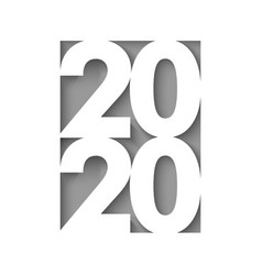 happy new year 2020 cut paper background vector image