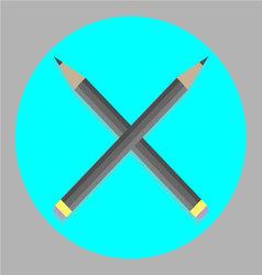 Icon cross pencil vector image