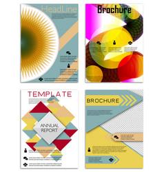 infographics in brochures for minimalist design vector image