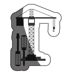 Isolated crane of construction design vector