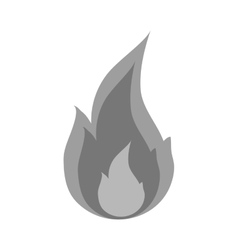 Isolated flame design vector
