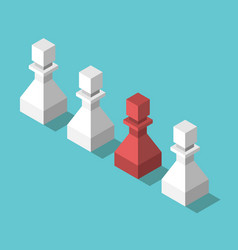 isometric unique red pawn vector image