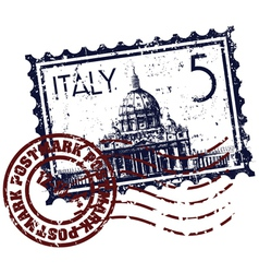 italy stamp icon vector image