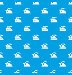 kettle pattern seamless blue vector image