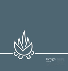logo of bonfire symbol of camping simple flat sty vector image