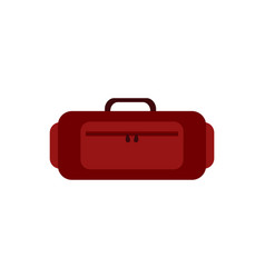 luggage icon suitcase travelling bag with zipper vector image
