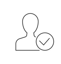 man avatar with approve check mark symbol vector image