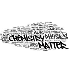 matter word cloud concept vector image