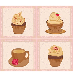 menu coffee shop card set vector image