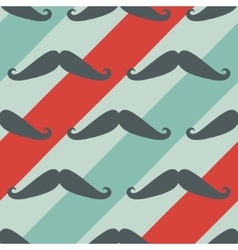 Mustache seamless pattern - texture vector image