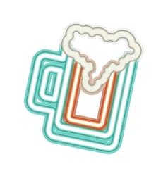 Neon beer icon vector