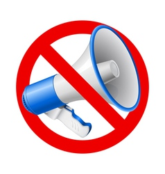 No Audio allowed sign vector image