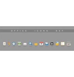 Office icons set design vector