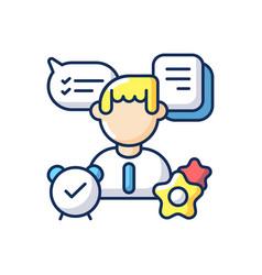 Organizational skills rgb color icon vector