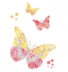 postcard butterflies vector image