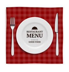 Realistic restaurant menu template menu with vector