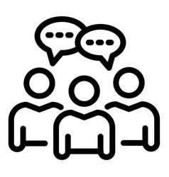 Recruiter conversation icon outline style vector