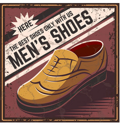 retro poster shoes vector image