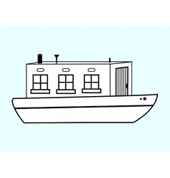 River white house water transport vector