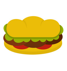 Sandwich with meat patties icon isolated vector