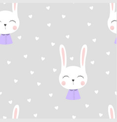 seamless bunny pattern vector image