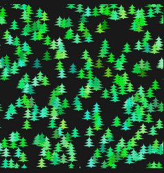 Seamless chaotic winter holiday background - pine vector
