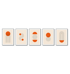 set minimalist geometric posters in 20s style vector image