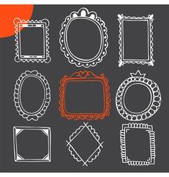 Set of hand drawn frames Vintage photo frames vector