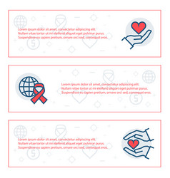 simple banners set charity sponsorshipdonation vector image
