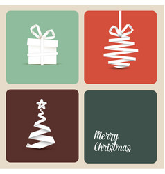 simple retro christmas card vector image