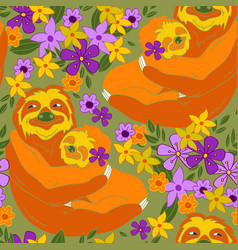 sloths vector image