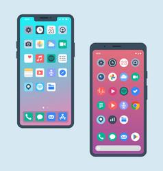 Smart phone ui vector