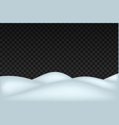 snow landscape isolated on dark transparent vector image