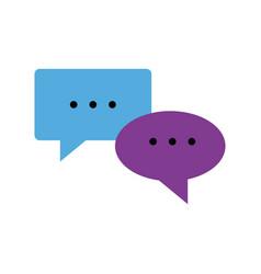 speech bubbles chat comment message image vector image