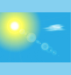 sunshine with sun and blue sky vector image