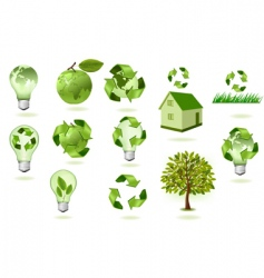 super set of ecology econs vector image