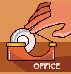 Tape office element vector