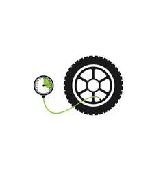 tire pressure gauge vector image