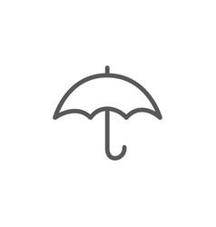 umbrella line icon on white background vector image